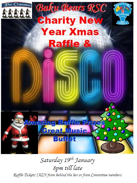 Xmas Charity Disco poster 2012-13