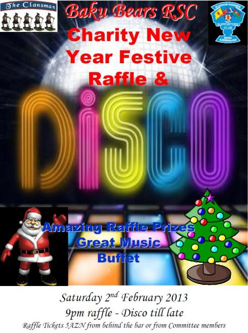 Festive new year raffle 2012-13